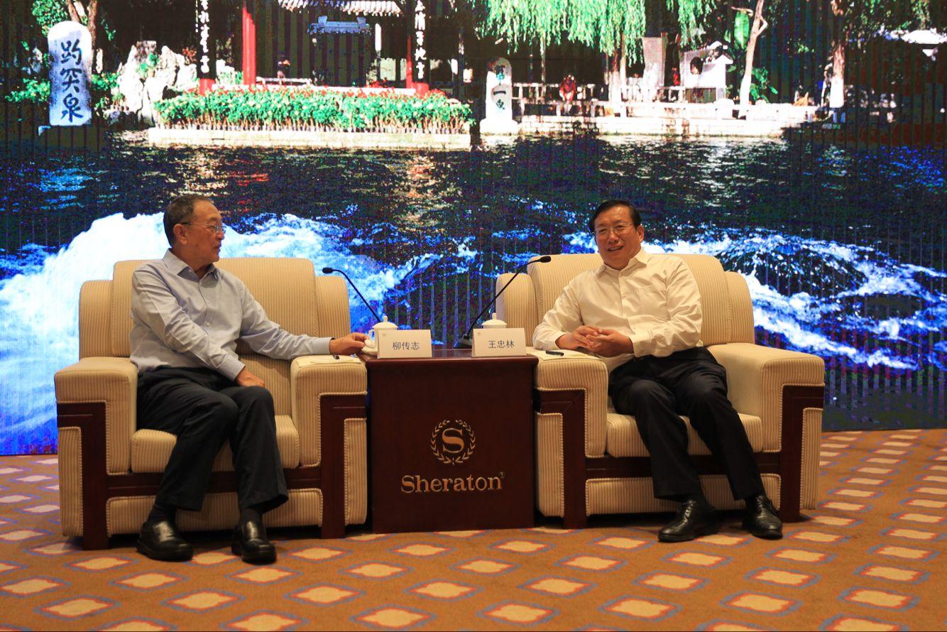 王忠林会见中关村企业家代表