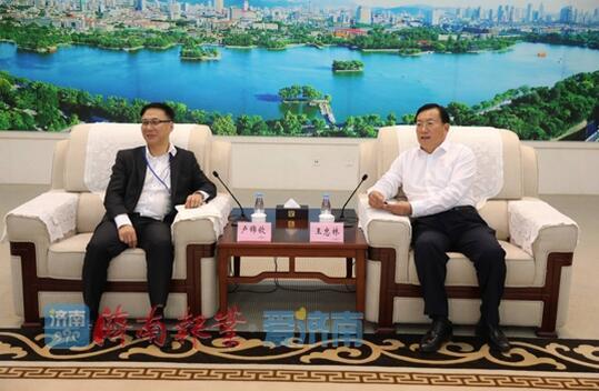 王忠林会见香港全港各区工商联客人